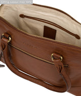 'Bailey' Conker Brown Leather Handbag image 4