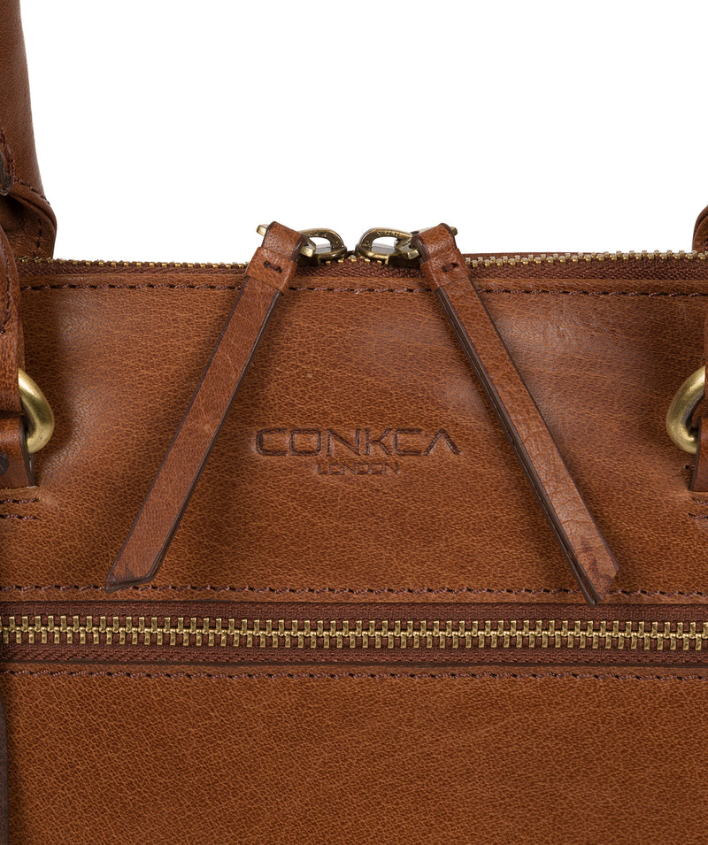 'Bailey' Conker Brown Leather Handbag image 5