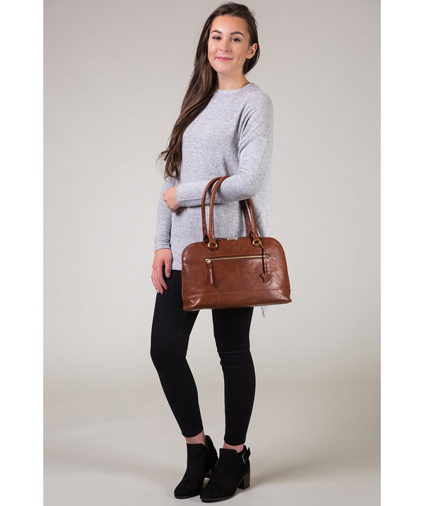 'Bailey' Conker Brown Leather Handbag image 2