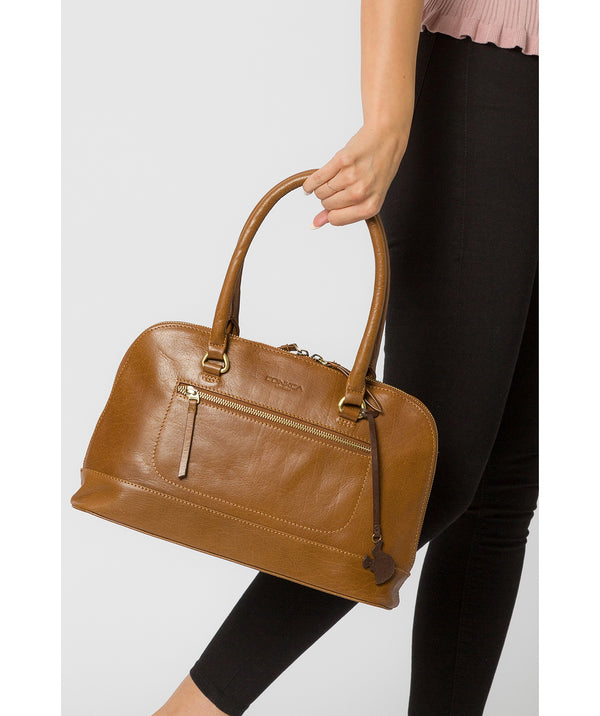 'Bailey' Dark Tan Leather Handbag image 2