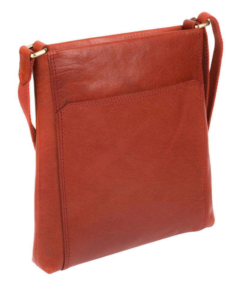 'Dink' Burnt Orange Leather Cross Body Bag