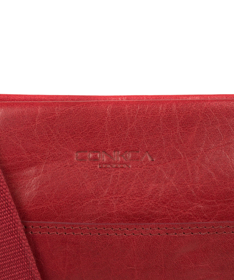 'Dink' Chilli Pepper Leather Cross Body Bag image 7
