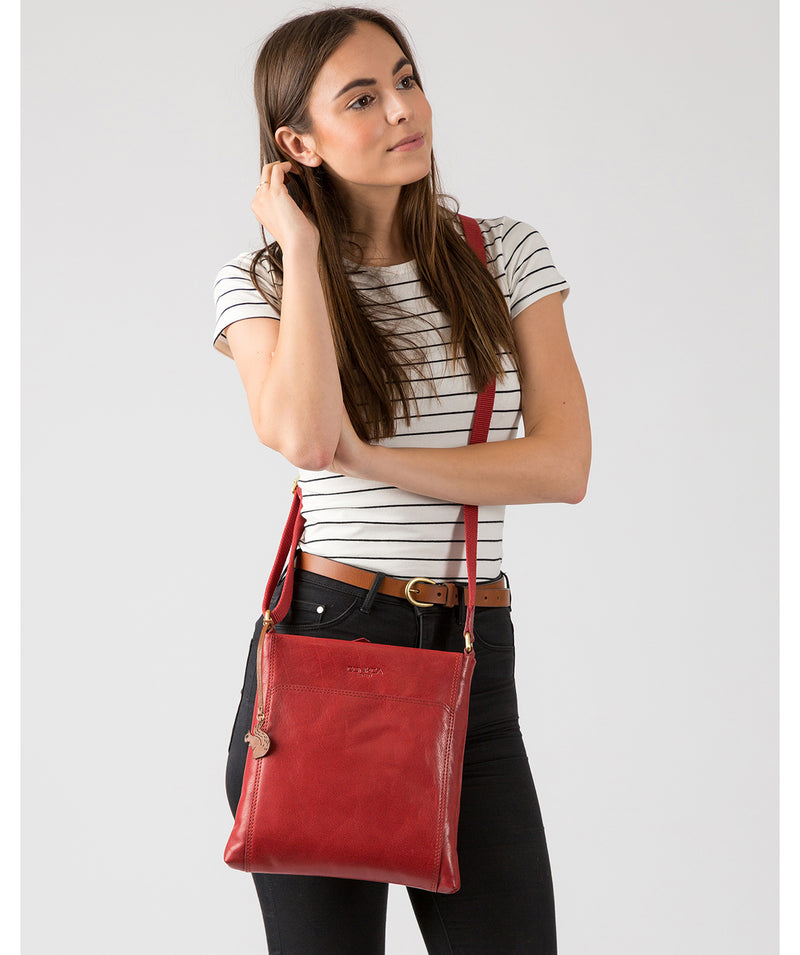 'Dink' Chilli Pepper Leather Cross Body Bag image 2