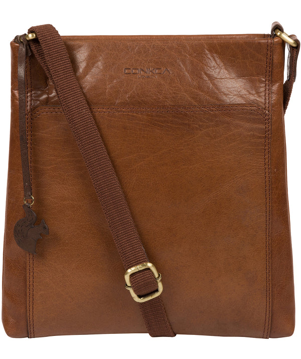 'Dink' Conker Brown Leather Cross Body Bag image 1
