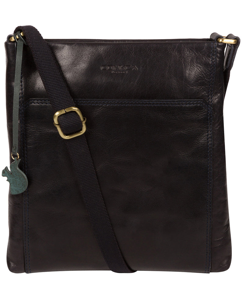 'Dink' Navy Leather Cross Body Bag image 1