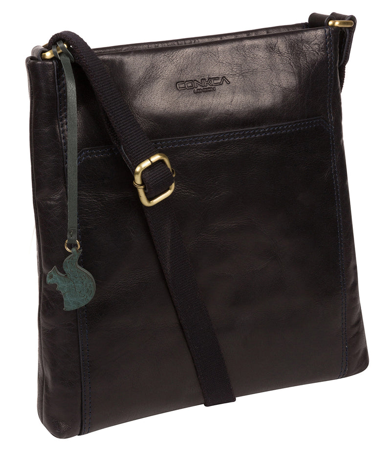 'Dink' Navy Leather Cross Body Bag image 5
