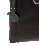 'Dink' Navy Leather Cross Body Bag image 6
