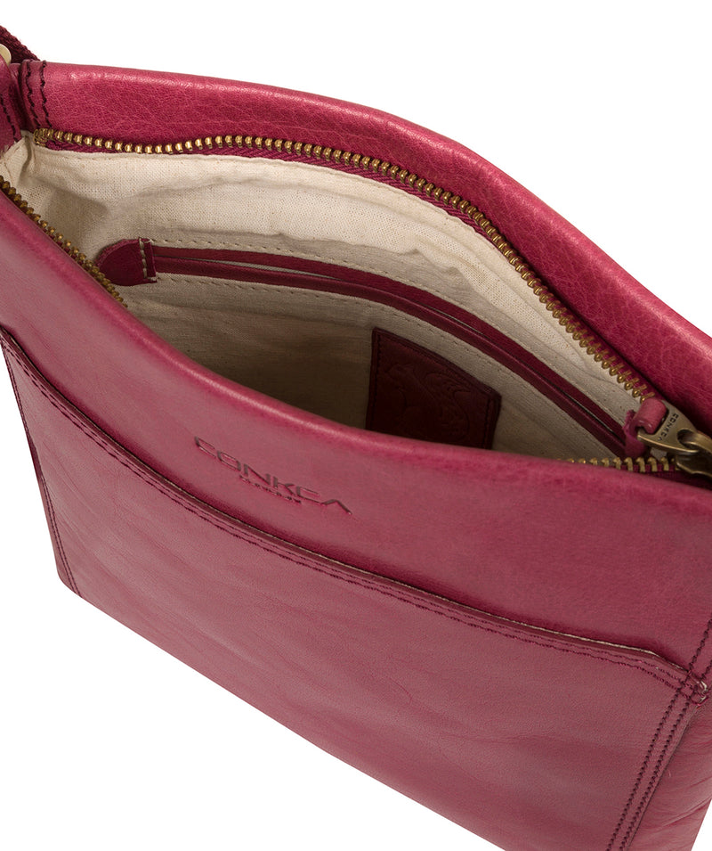 'Dink' Orchid Leather Cross Body Bag image 4