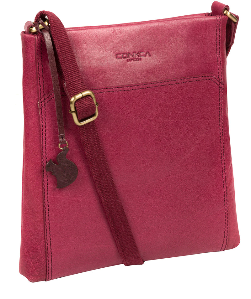 'Dink' Orchid Leather Cross Body Bag image 5