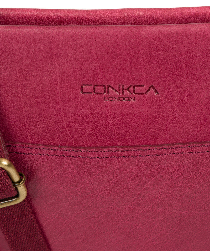 'Dink' Orchid Leather Cross Body Bag image 6