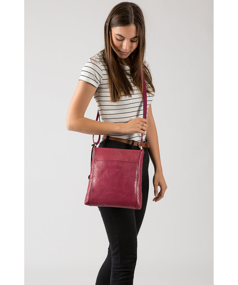 'Dink' Orchid Leather Cross Body Bag image 2