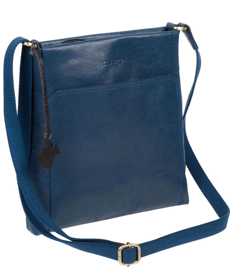 'Dink' Snorkel Blue Leather Cross Body Bag