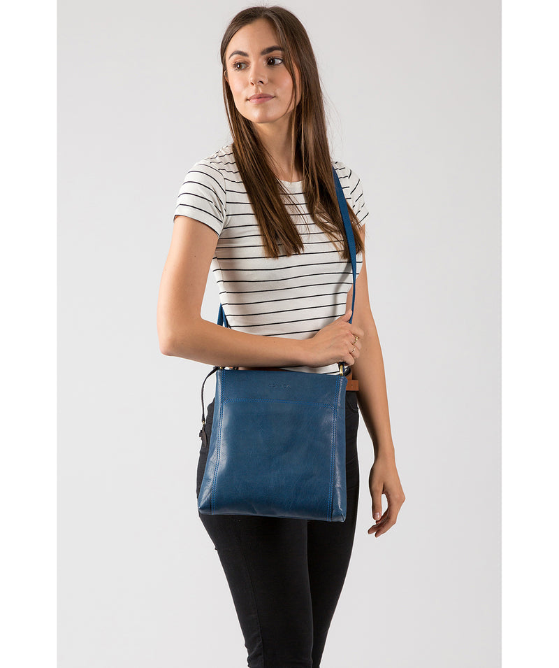 'Dink' Snorkel Blue Leather Cross Body Bag image 2