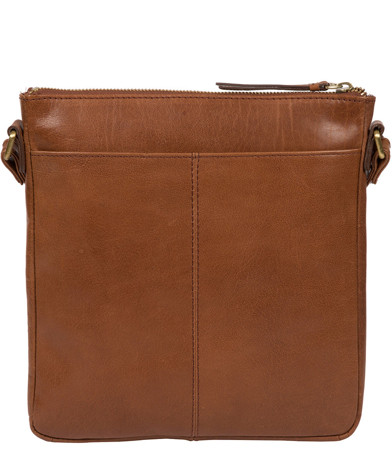 'Avril' Conker Brown Leather Cross Body Bag image 3