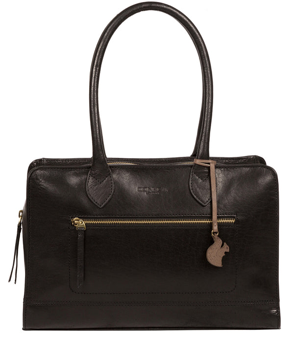 'Mona' Black Leather Handbag image 1