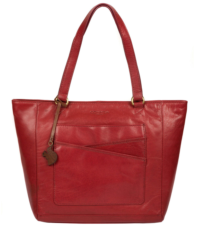'Monique' Chilli Pepper Leather Tote Bag image 1
