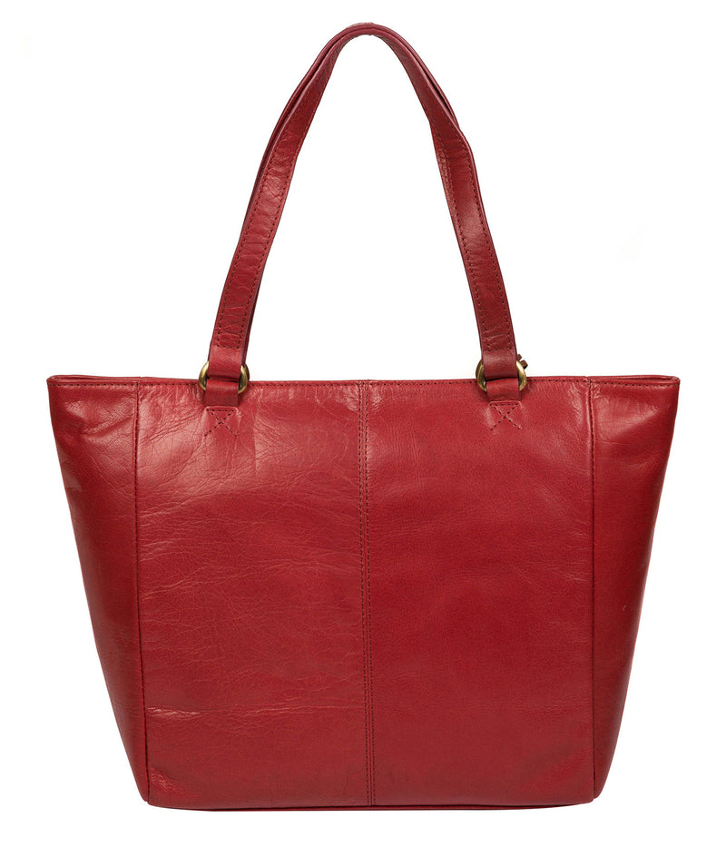 'Monique' Chilli Pepper Leather Tote Bag image 3