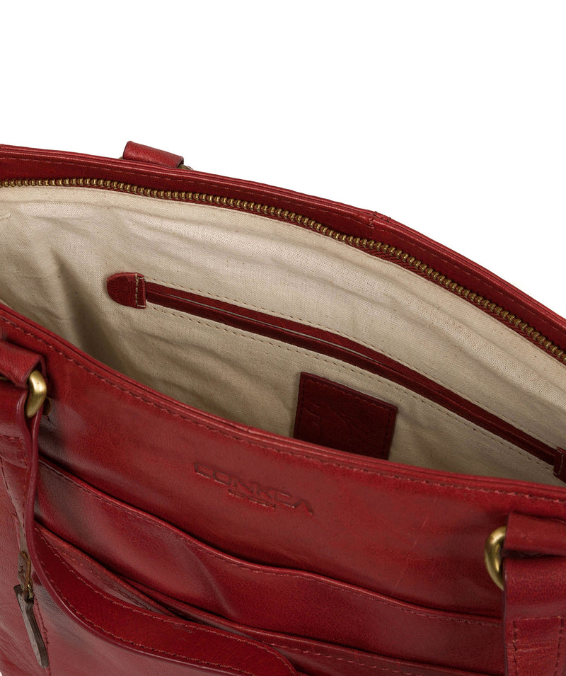 'Monique' Chilli Pepper Leather Tote Bag image 4