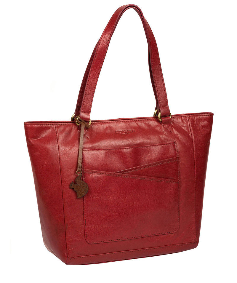 'Monique' Chilli Pepper Leather Tote Bag image 5