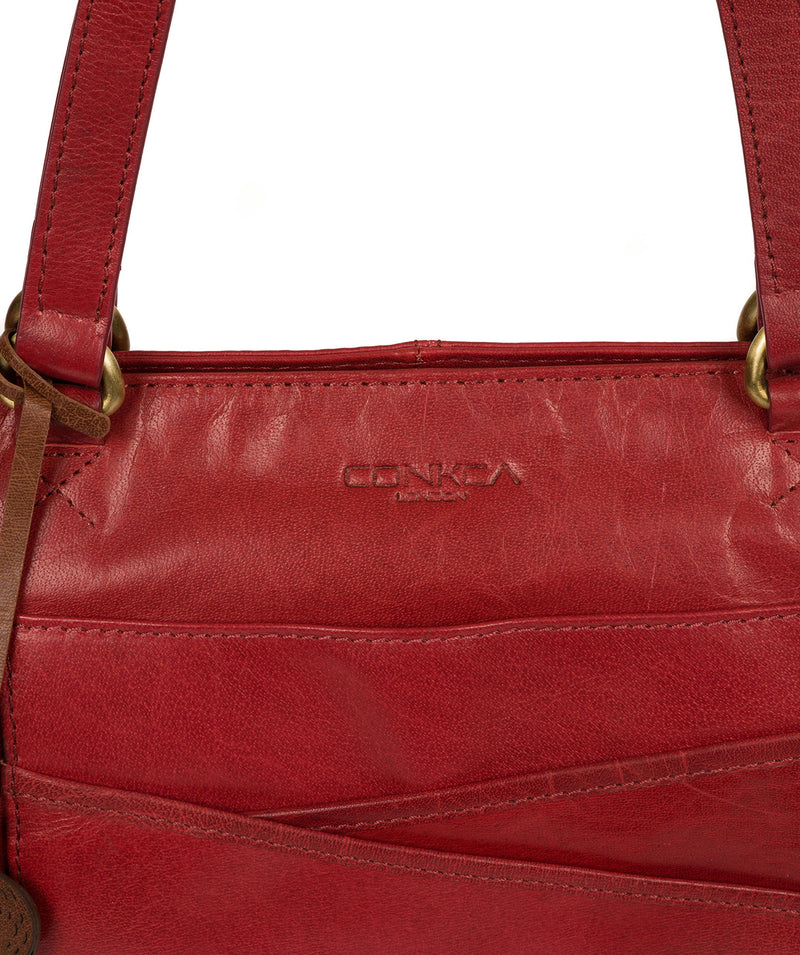 'Monique' Chilli Pepper Leather Tote Bag image 6