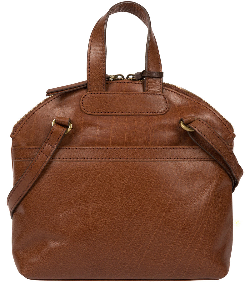 'Ingrid' Conker Brown Leather Cross Body Bag image 3