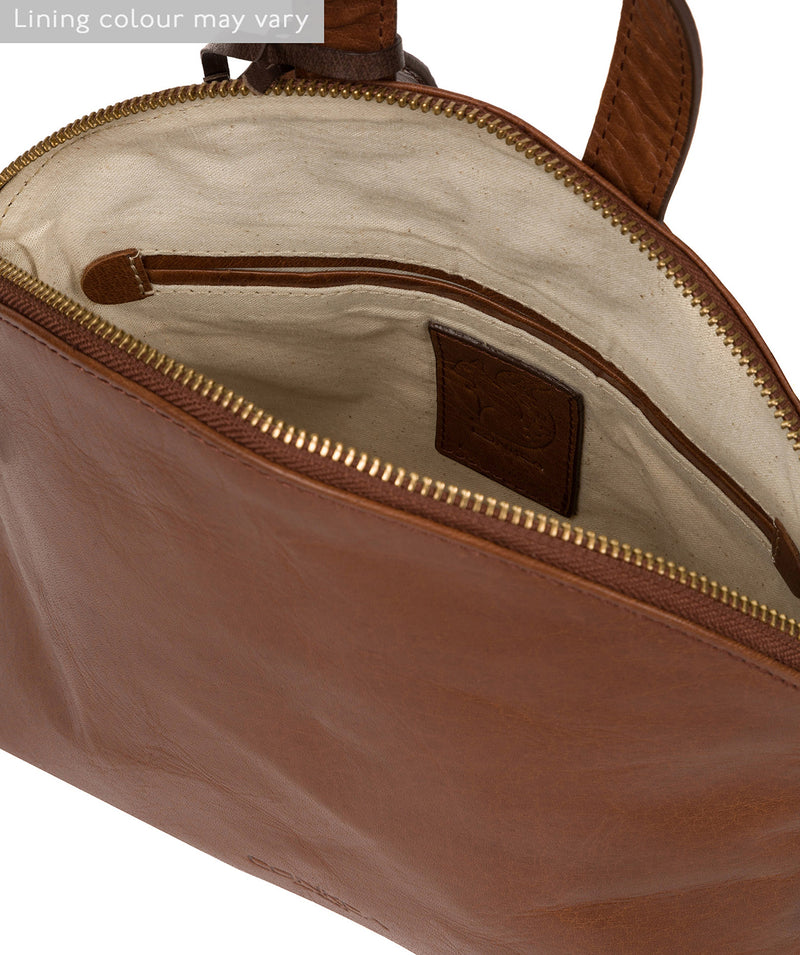 'Ingrid' Conker Brown Leather Cross Body Bag image 4