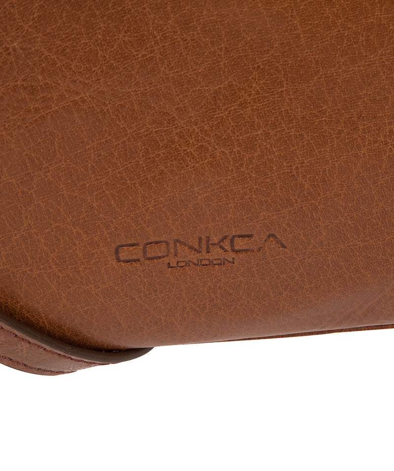 'Ingrid' Conker Brown Leather Cross Body Bag image 6