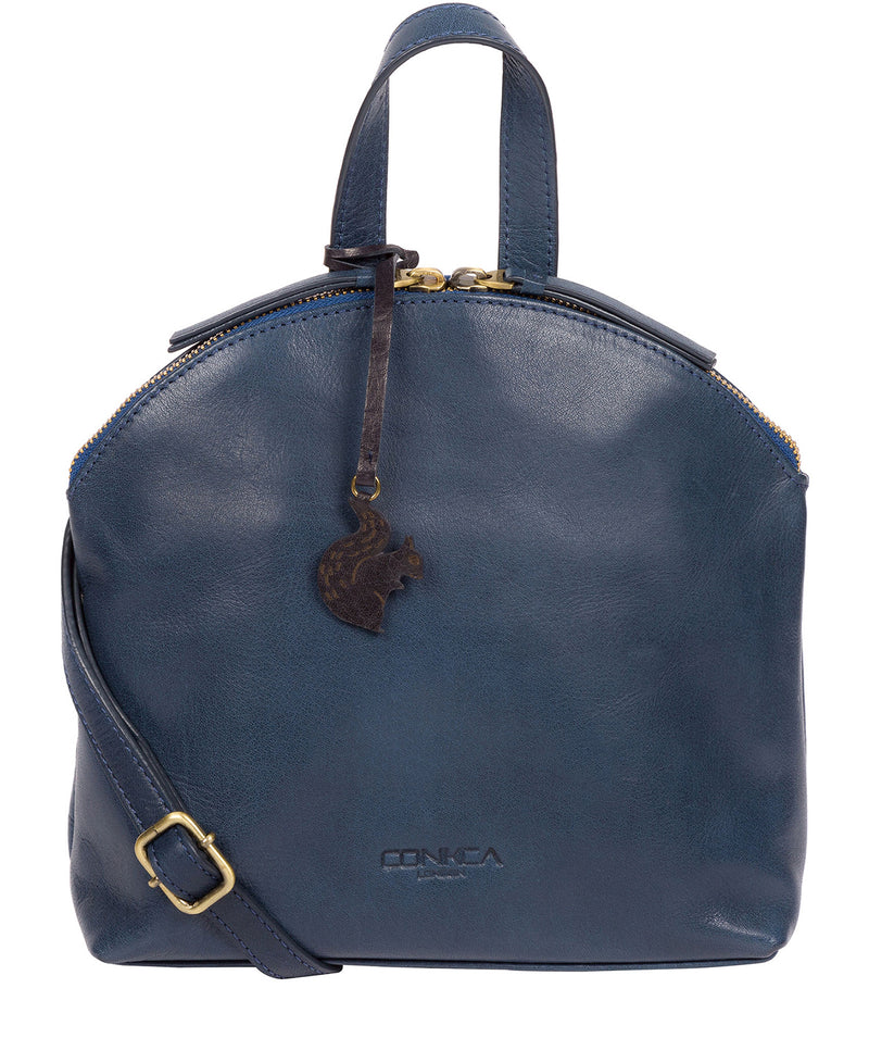 'Ingrid' Snorkel Blue Leather Cross Body Bag image 1