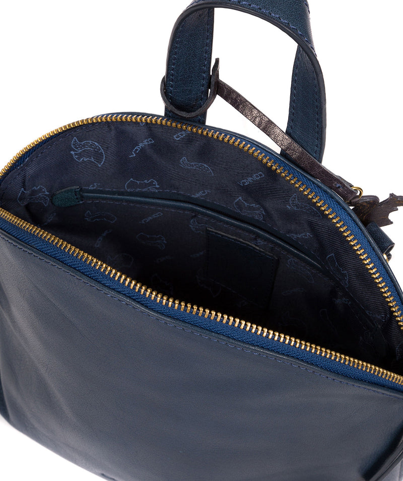 'Ingrid' Snorkel Blue Leather Cross Body Bag image 4