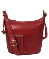 'Kristin' Chilli Pepper Leather Shoulder Bag image 1