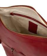 'Kristin' Chilli Pepper Leather Shoulder Bag image 4