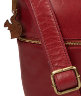 'Kristin' Chilli Pepper Leather Shoulder Bag image 6