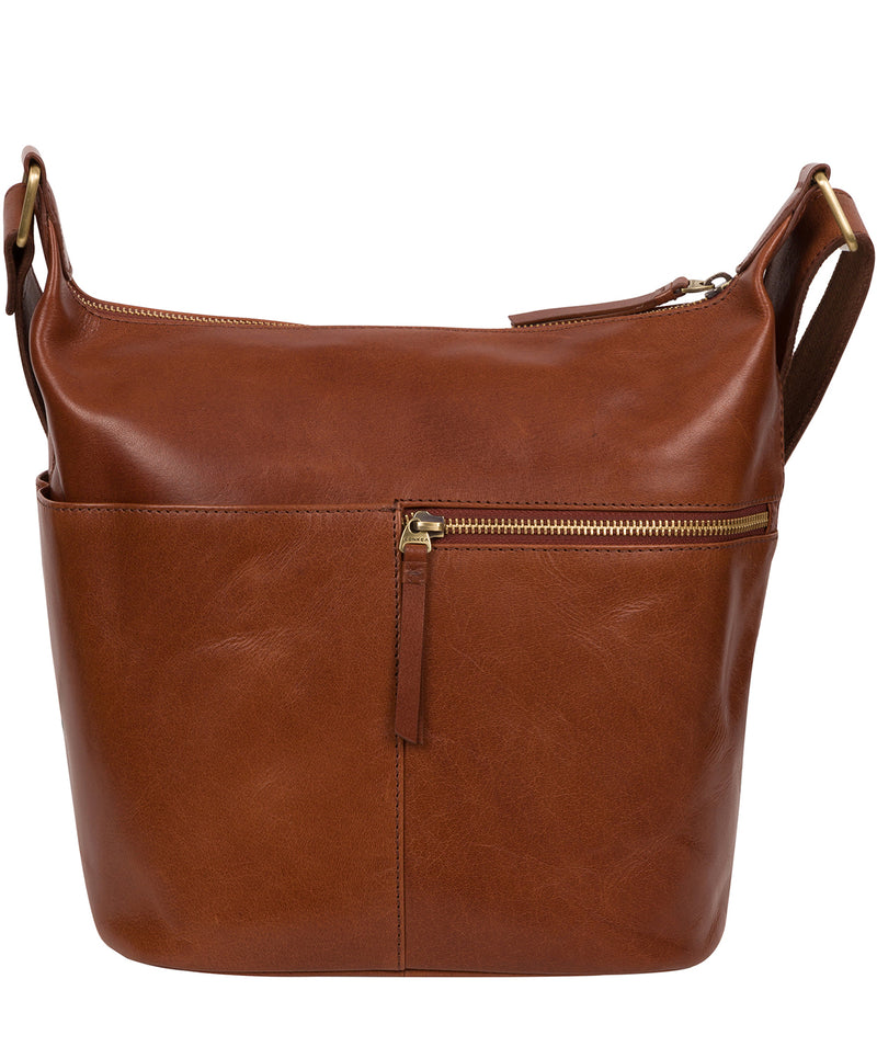 'Kristin' Conker Brown Leather Shoulder Bag image 4