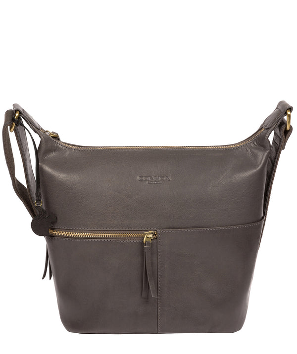 'Kristin' Slate Leather Shoulder Bag image 1