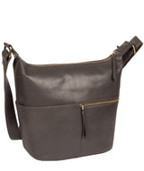 'Kristin' Slate Leather Shoulder Bag image 3