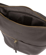 'Kristin' Slate Leather Shoulder Bag image 4