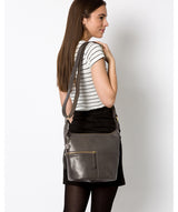 'Kristin' Slate Leather Shoulder Bag image 2