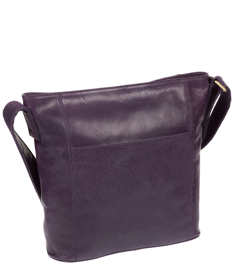 'Robyn' Blackberry Leather Shoulder Bag Pure Luxuries London