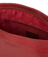 'Robyn' Chilli Pepper Leather Shoulder Bag