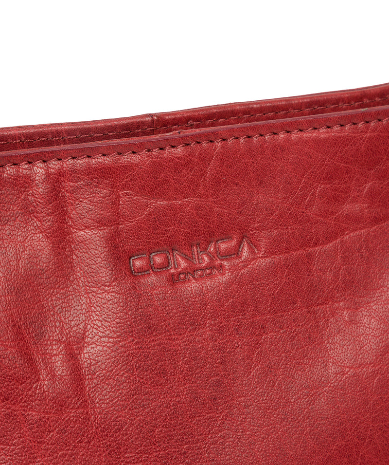 'Robyn' Chilli Pepper Leather Shoulder Bag image 6