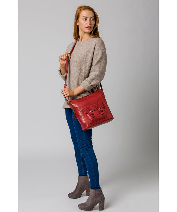 'Robyn' Chilli Pepper Leather Shoulder Bag image 2