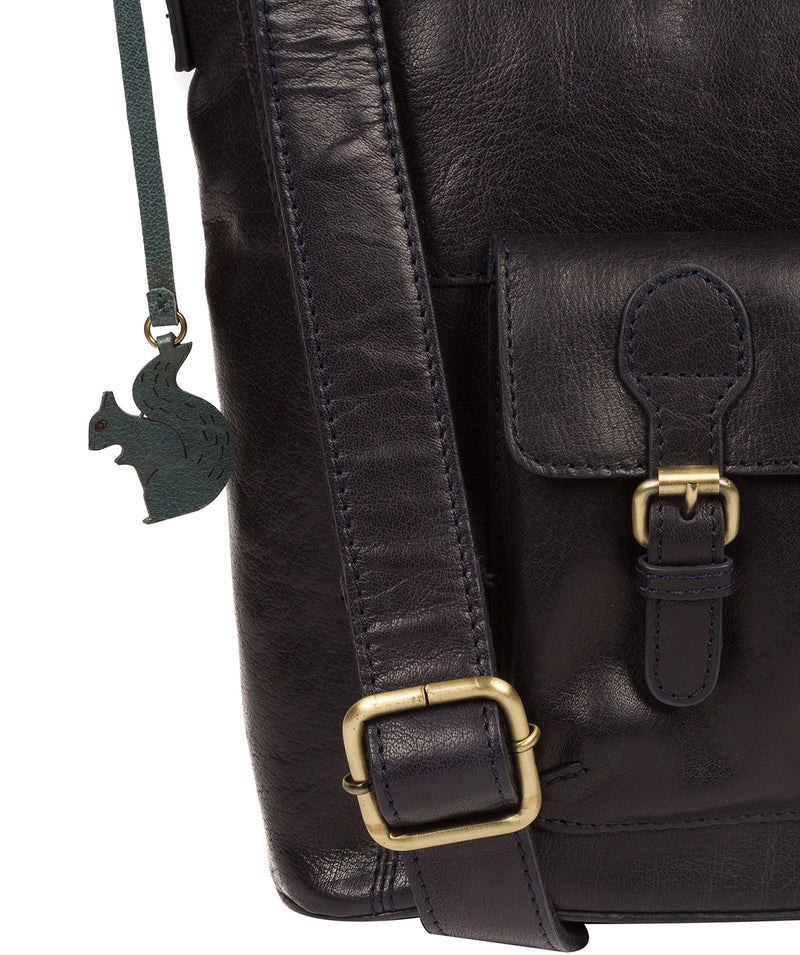 'Robyn' Navy Leather Shoulder Bag image 6