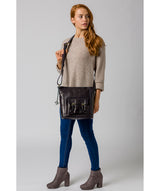 'Robyn' Navy Leather Shoulder Bag image 2
