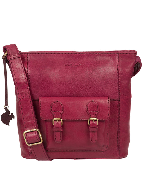 'Robyn' Orchid Leather Shoulder Bag image 1