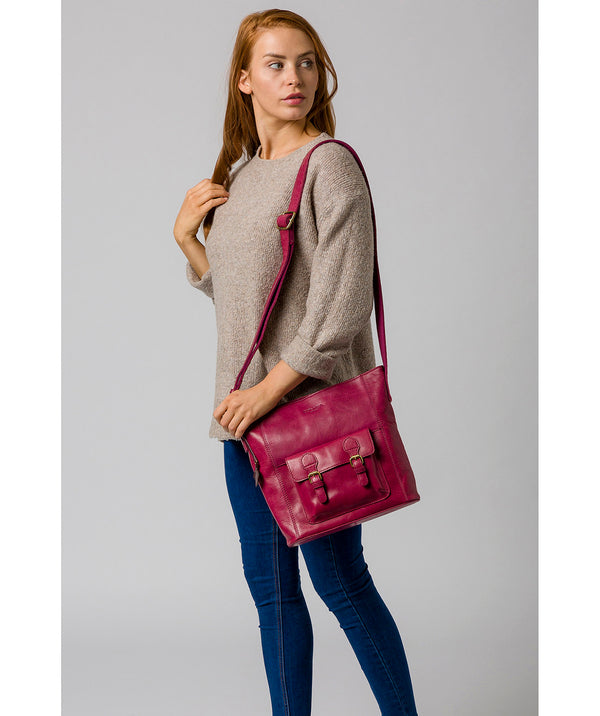 'Robyn' Orchid Leather Shoulder Bag image 2