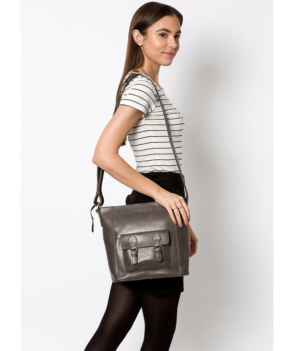 'Robyn' Slate Leather Shoulder Bag image 2