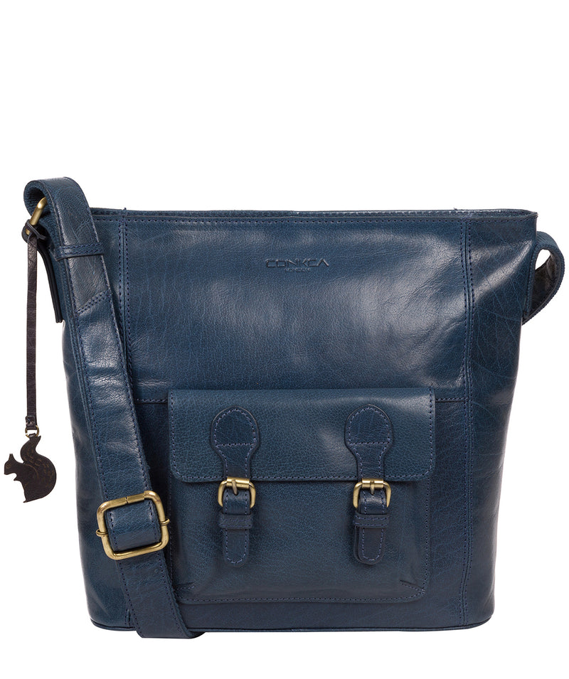 'Robyn' Snorkel Blue Leather Shoulder Bag image 1