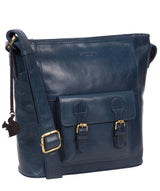 'Robyn' Snorkel Blue Leather Shoulder Bag image 5