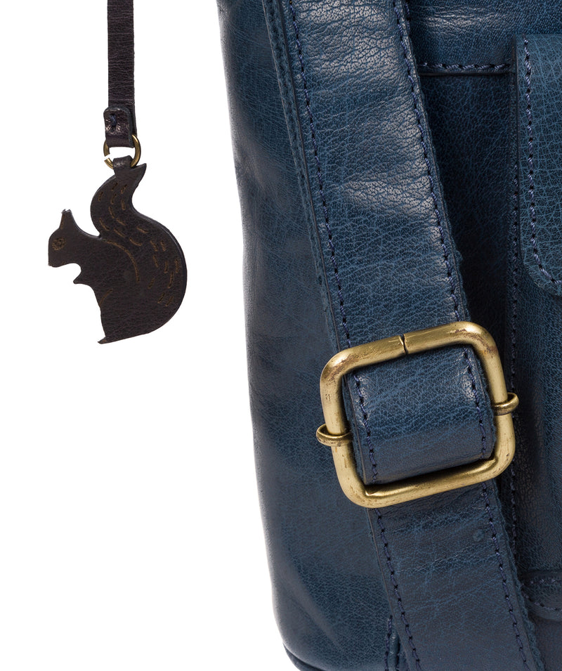 'Robyn' Snorkel Blue Leather Shoulder Bag image 6