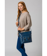 'Robyn' Snorkel Blue Leather Shoulder Bag image 2